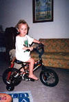 Ben's first bicycle  June 19, 2002